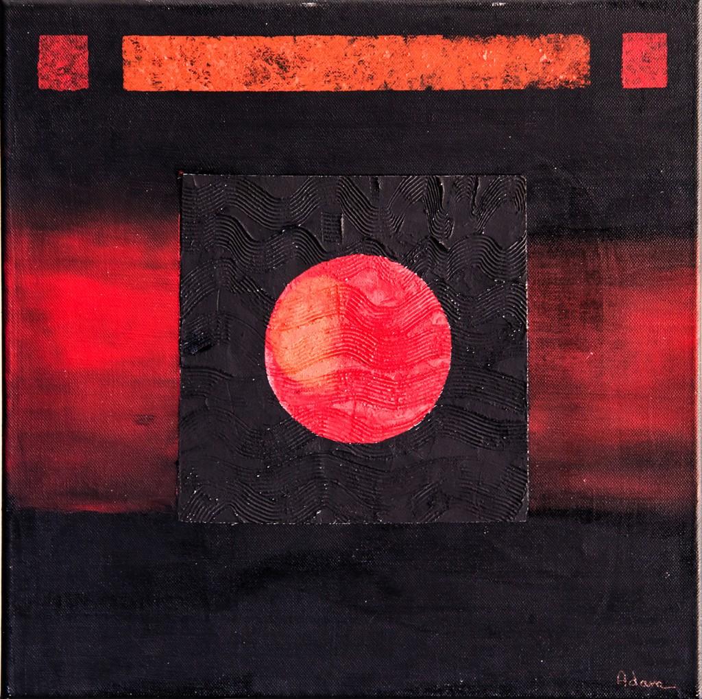 Zen en rouge et noir